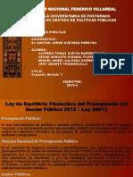 Ley Del Equilibrio Financiero Del Presupuesto 2012