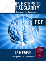 3 Steps to Mental Clarity