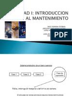 Unidad i - Introduccion Al Mantenimiento (2)