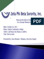 zeta phi beta sorority inc - flyer