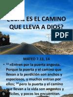 CUÁL ES EL CAMINO QUE LLEVA A DIOS MT.7.13.