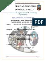 Informe N-_ 6, Peso Volumetrico Varrillado (1)