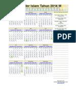 kalender hijriyah 2014