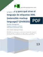 DV00202A Que Es y Para Que Sirve Lenguaje XML Markup Language