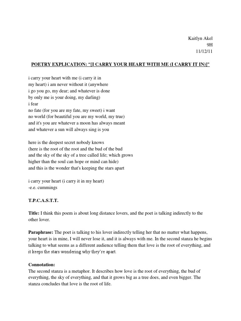 E e cummings i carry your heart literary analysis prompt for college application essays