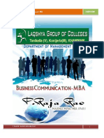 BUSINESS COMMUNICATION LAB MANUAL BY RAJA RAO PAGIDIPALLI