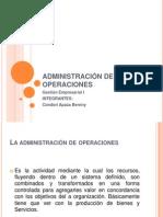 ADMINISTRACI+ôN DE OPERACIONES