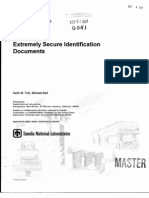 Extremely secure identification documents