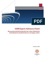 IASB Expert Advisory Panel October 2008 Fair Value Measurment