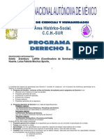 Programa Derecho Uno