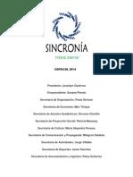Plan de Trabajo Sincronía-cepsicol2014