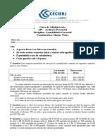 AP1 Contabilidade Gerencial - 2007.2 (Gabarito)