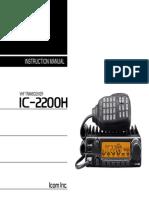 Icom IC-2200H User Manual
