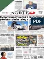 Periodico Norte de Ciudad Juarez 13 de Noviembre de 2013