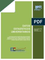 Datos Estadísticos Universitarios