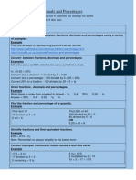 Fractions, Decimals and Percentages-I can Statements