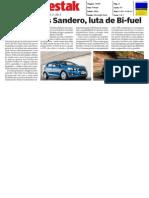 """DACIA SANDERO 1.2 16V BI-FUEL FRENTE AO CHEVROLET AVEO BI-FUEL NO """"DESTAK"""""""