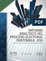 Informe analíico del proceso electoral en Guatemala