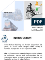 Gap analysis of IRCTC