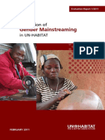 Evaluation of Gender Mainstreaming in UN-Habitat