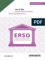 Evaluation of the Experimental Reimbursable Seeding Operations