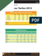 Tarifes 2013