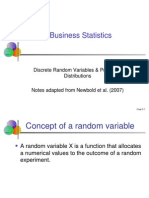 Business Statistics_Discrete Probability Distribution