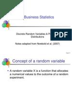 Business Statistics_Discrete Probability Distribution