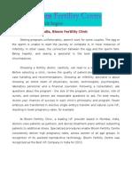 Fertility Clinic India