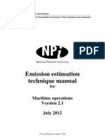 Maritime operations environment calcs