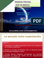 La Escuela Como Organizacion Cleiver Andreith Perez Cundapi