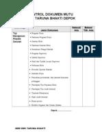 Kontrol Dokumen Per Unit Kerja SMK TB.doc