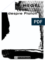 G. W. F. Hegel-Lectii Despre Platon-Humanitas (1998)