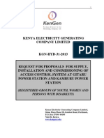 KGN HYD 31 2013 Request for Proposals for Supply, Installation and Commissioning of Access Control System at Gitaru Power Station and Kamburu Power Station