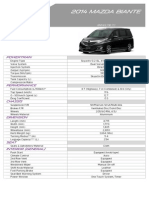 2014 Mazda Biante - Malaysian spec