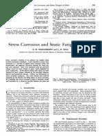 Wiederhorn Stress Corrosion