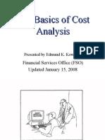 Basics Cost Analysis