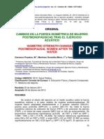 cambios en la fuerza isometrica de mujeres postmenopaúsicas tras el ejercicio acuático