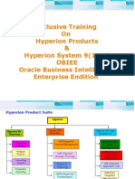 Exclusive Training on Hyperion Products & Hyperion System 9(11.1) OBIEE