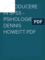 Introducere in SPSS - psihologie - Dennis Howeitt