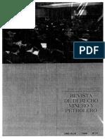 Derecho Minero y Petrolero