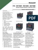 Honeywell Controller Dc1040 Dc1020 Dc1010 TEMP 130701