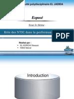 Rôle des NTIC dans la performance logistique