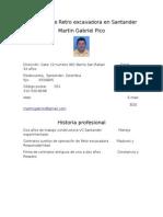 Operador de Retro Excavadora en Santander