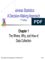 business statistics:a decision making approach Chapter 1 PowerPoint