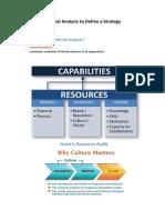 5 - Internal Analysis to Define a Strategy
