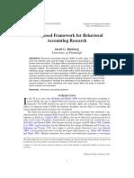 Binberg 2011 a Proposed Framework for Behavioral ...