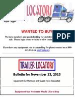 Wanted To Buy - November 13, 2013