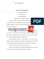 Chemistry of sodium hypochlorite / Essay / Paper by AssignmentLab.com