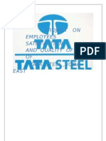 Project Report on Employees Satisfaction and Quality of Life Of
